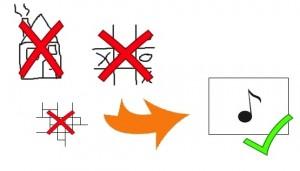 petits carrés pour grille d'accords